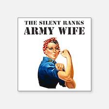 """ARMY WIFE Square Sticker 3"""" x 3"""""""