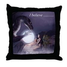 I believe in Magic (v1a) Throw Pillow