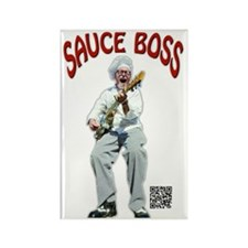 Sauce Boss Tshirt Rectangle Magnet