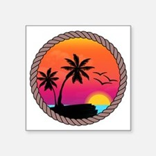 "sunset Square Sticker 3"" x 3"""