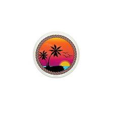 sunset Mini Button