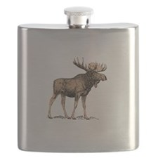 Canadian Moose Flask