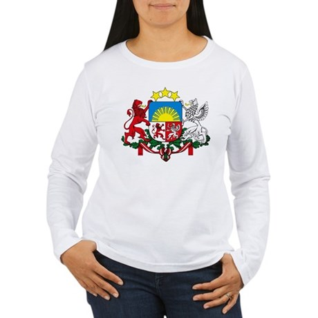 Latvia Coat of Arms Women's Long Sleeve T-Shirt