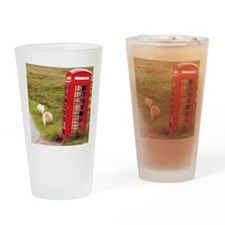 Vintage Phone Booth Drinking Glass