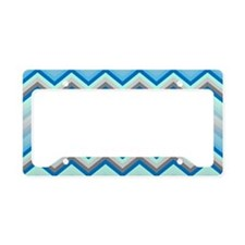 Zig Zag Chevron Pattern License Plate Holder