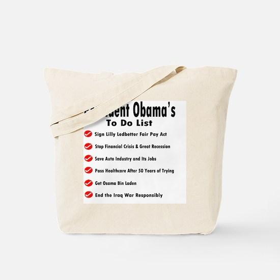 President Obama To Do List Tote Bag