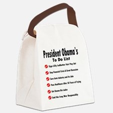 President Obama To Do List Canvas Lunch Bag