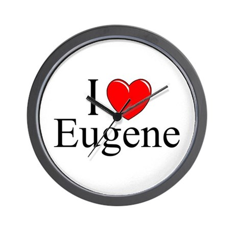 """I Love Eugene"" Wall Clock"