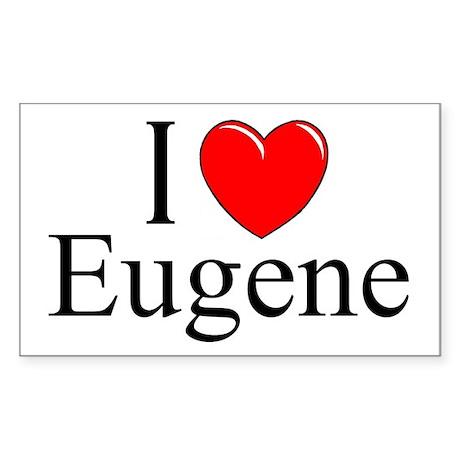 """""""I Love Eugene"""" Rectangle Sticker"""