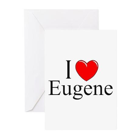 """""""I Love Eugene"""" Greeting Cards (Pk of 10)"""