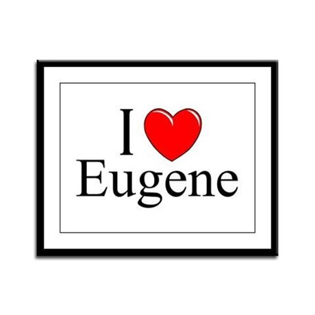 """I Love Eugene"" Framed Panel Print"