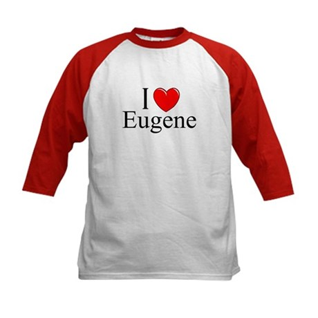 """I Love Eugene"" Kids Baseball Jersey"