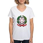 Italian Coat of Arms Women's V-Neck T-Shirt