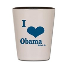 I Love obama Shot Glass