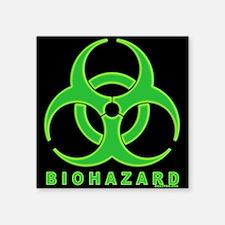"""BioHaz12x12WideC Square Sticker 3"""" x 3"""""""