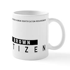 Brown, Citizen Barcode, Mug