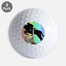 Rainbow Jumping Horse Golf Ball