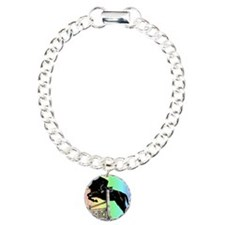 Rainbow Jumping Horse Charm Bracelet, One Charm