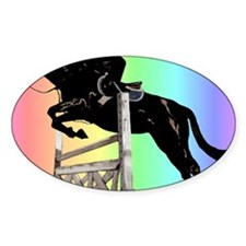 Rainbow Jumping Horse Decal