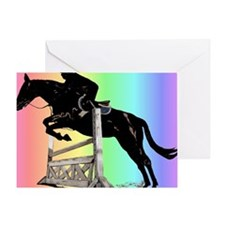 Rainbow Jumping Horse Greeting Card