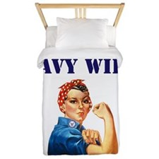 NAVY WIFE Twin Duvet