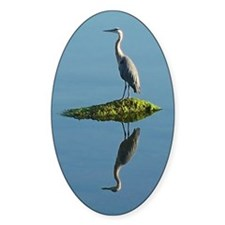Heron Reflection Decal
