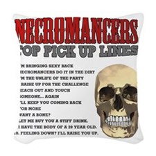 Necromancer Pick Up Lines Woven Throw Pillow