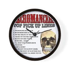 Necromancer Pick Up Lines Wall Clock