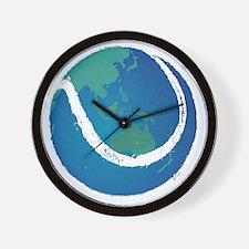 world tennis ball globe Wall Clock