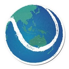 world tennis ball globe Round Car Magnet