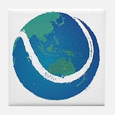 world tennis ball globe Tile Coaster