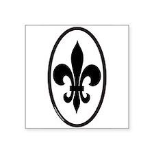 Fleur De Lis Oval Sticker for New Orleans (vert) S