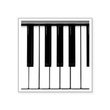 "Piano Square Sticker 3"" x 3"""