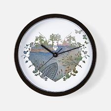 heart scene Wall Clock