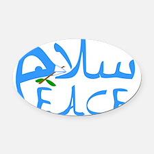 peace salam Oval Car Magnet