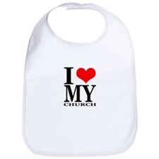"""I Love My Church"" Bib"