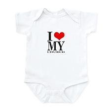 """I Love My Church"" Infant Bodysuit"