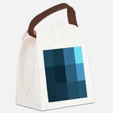 8-Bit, Blue, Canvas Lunch Bag