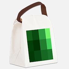 8-Bit, Green, Canvas Lunch Bag
