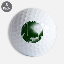 Ink and Paint, White on Green, Golf Ball
