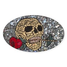 Mosaic Skull and Rose Decal