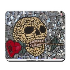 Mosaic Skull and Rose Mousepad