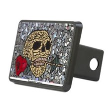 Mosaic Skull and Rose Hitch Cover
