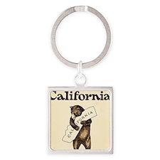 I Love You California 2 Square Keychain