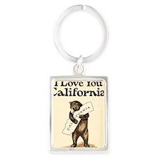I Love You California 2 Portrait Keychain