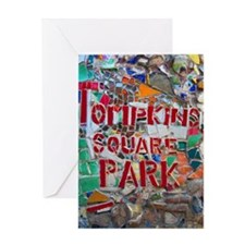 MosaicManNYC Tompkins Square Park Greeting Card