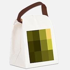 8-Bit, Yellow, Canvas Lunch Bag