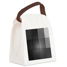 Retro, Shades of Grey, Canvas Lunch Bag