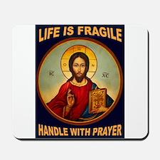 FRAGILE PRAYER Mousepad