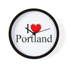 """I Love Portland"" Wall Clock"